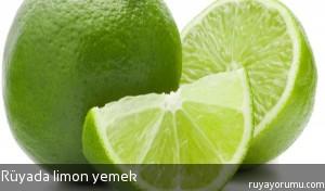 Rüyada Limon Yemek